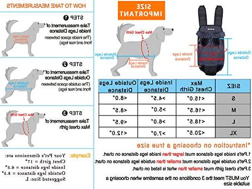 PetBonus Kangaroo Pouch Dog Wide with Pads, for Camping