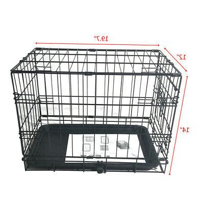 METAL DOG PUPPY FOLDING CRATE TRAVEL STOCK