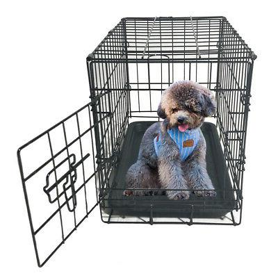 METAL DOG PUPPY FOLDING CRATE STOCK