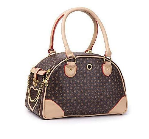 dog carrier pu leather