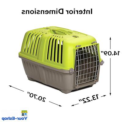 Dog Cat Plastic Crate Cage With Handle For Dogs