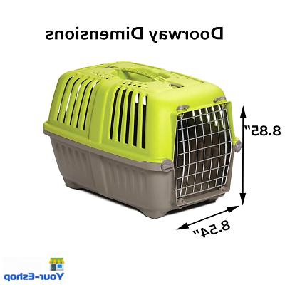 Dog Cat Plastic Crate Travel Cage With Handle Small Dogs