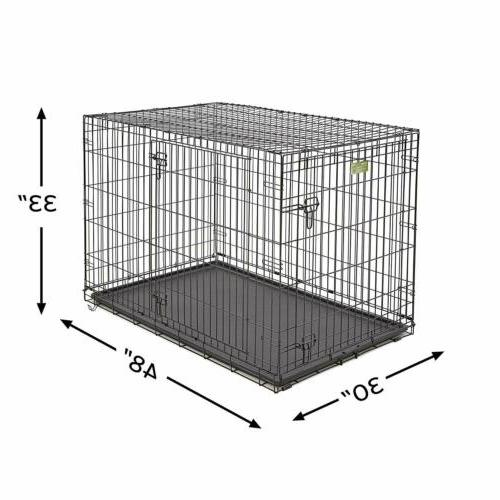 MidWest for Pets Dog Crate Double Door Folding ,48in