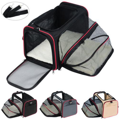 dog crate soft sided pet carrier foldable