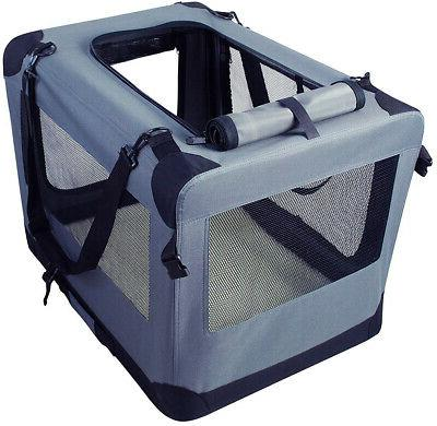 Dog Crates Kennel Door 26 Travel Pet Carrier W Straps &