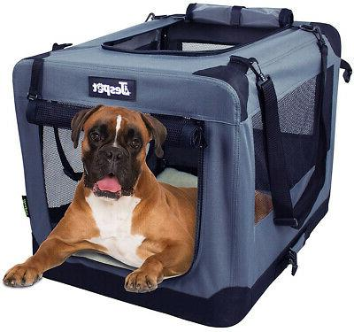 Dog Door Pet Carrier W Straps &