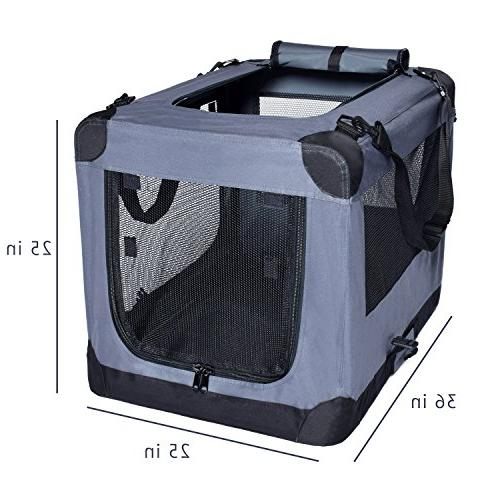 Dog Soft 36 Inch Indoor Outdoor - Soft Sided 3 Door Travel