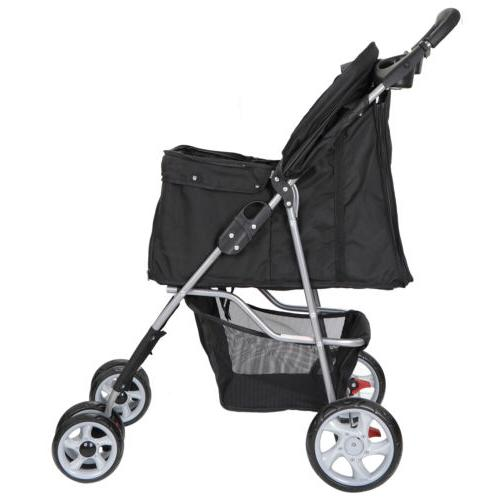 Dog Stroller Pet Travel Carriage w//Foldable  Carrier Cart &
