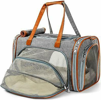 expandable airline approved soft sided pet carrier