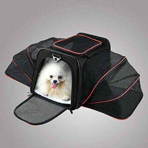 Dog Carrier with Mat, Pet Carrier Carry Sided Flodable Cat Carrier with Store