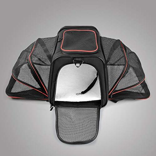 X-ZONE PET Dog Carrier Fleece Mat, Most Pet Carrier Carry Sided Flodable Cat with Pockets to Store Goods