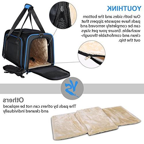 YOUTHINK Pet for Soft Approved, Perfect Carrier Removable Fleece