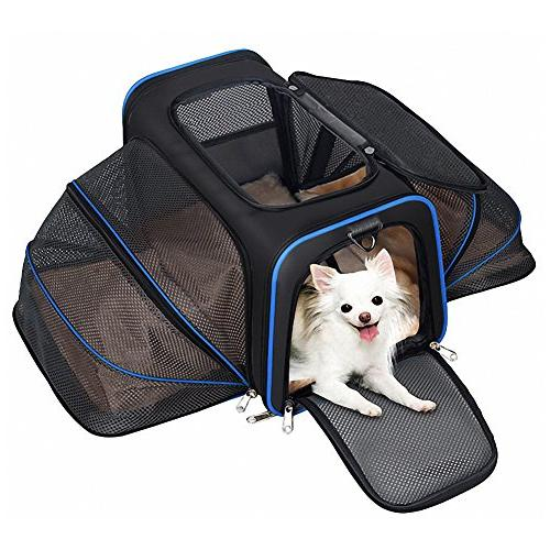 YOUTHINK Expandable Carrier for Dogs and Cats, Soft Sided&Most Airline Removable