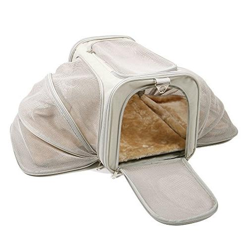 expandable pet carrier luxury airline