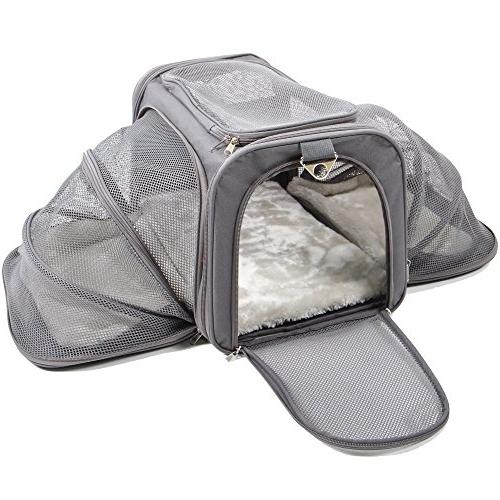 expandable pet dog cat carrier