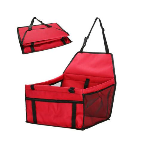 Foldable Pet Car Carrier Dog Lookout Safety Leash