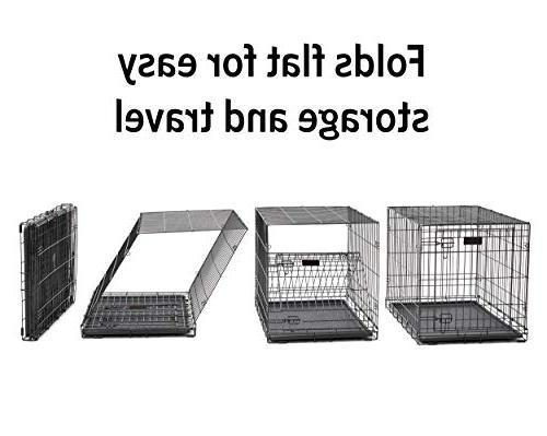 New Metal Crate, Includes Leak-Proof Dog Crate Measures 42L 30W Fits