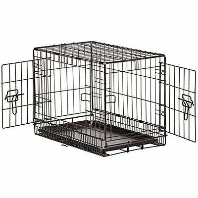 folding metal dog crate double