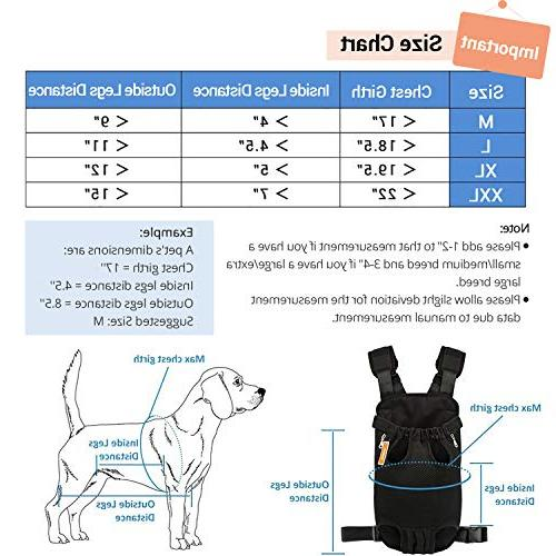 NICREW Out Front Pack Pet Adjustable Backpack, Travel for Small Doggie Easy-Fit for Hiking