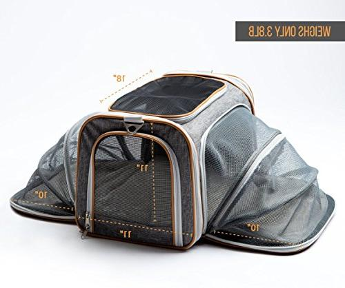 690e55e00f PETYELLA Luxury Carrier + Blanket & Bowl - Airline Approved Innovative - Dog