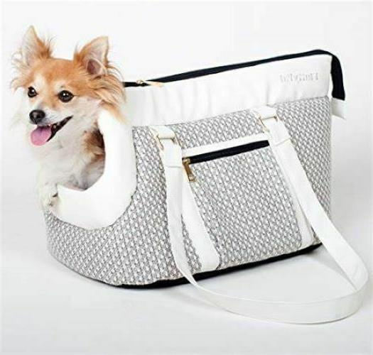 luxury soft sided designer small dog carrier