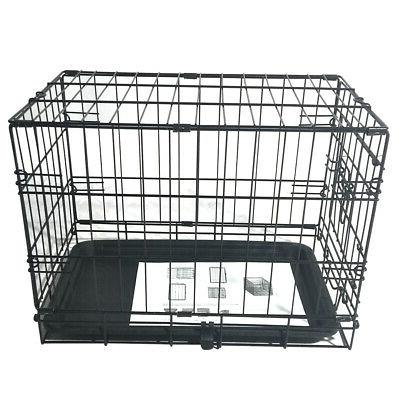 metal pet cage carrier dog puppy folding