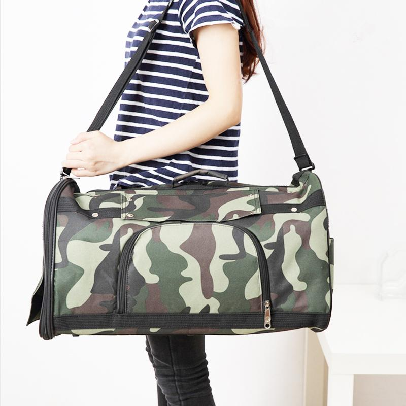 multi function camouflage pet carrier for small