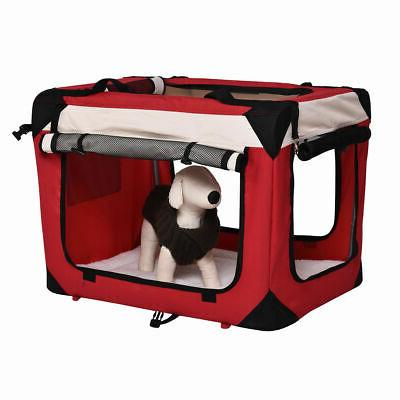 New 4 Dog Carrier Portable Soft Tote Bag Red