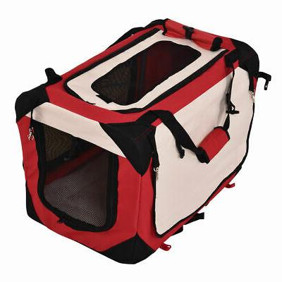 New Sizes Dog Carrier Portable House Soft Sided Cat Tote Red