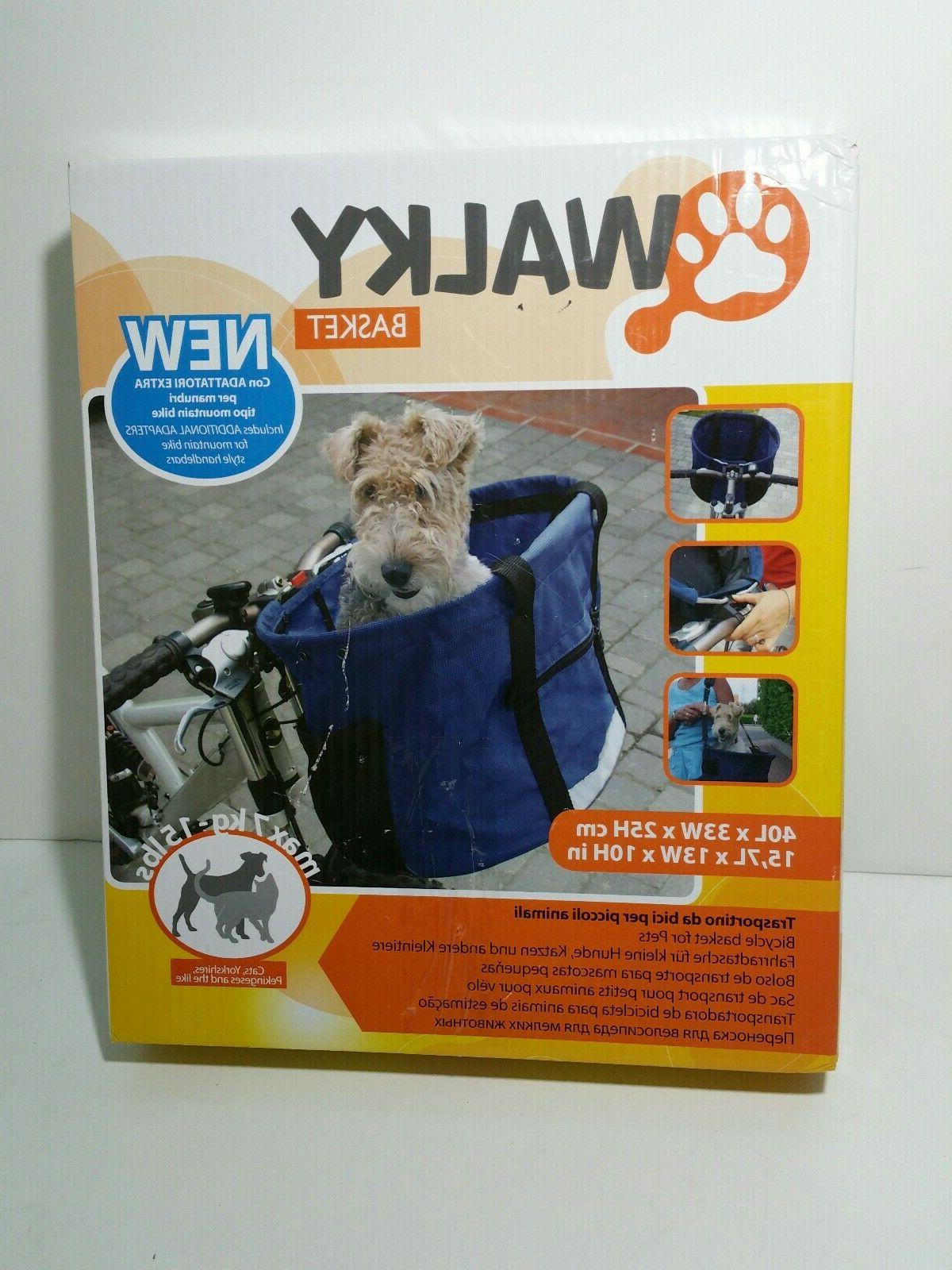 new open walky basket pet dog bicycle