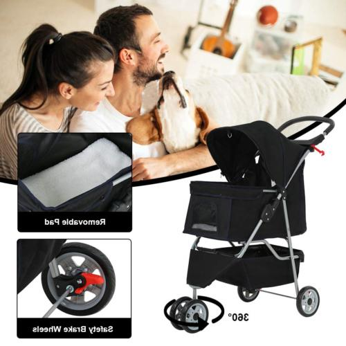 BestPet New Pet Stroller Wheels Carrier
