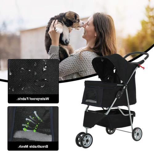 BestPet Cat Wheels Travel Folding Carrier