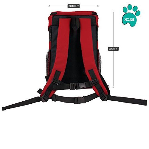 PetAmi Backpack Cats and Ventilated Design, Safety Strap, Support | Travel, Use