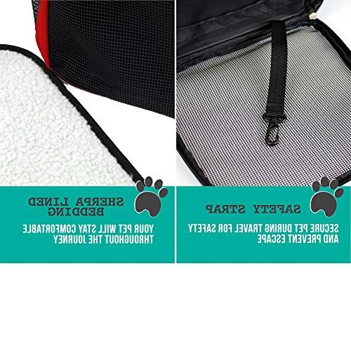 PetAmi Backpack Small and Dogs Ventilated Design, Buckle Support | Travel, & Use