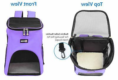 Dog Pet Backpack w Mesh Pack Breathable Travel Hiking