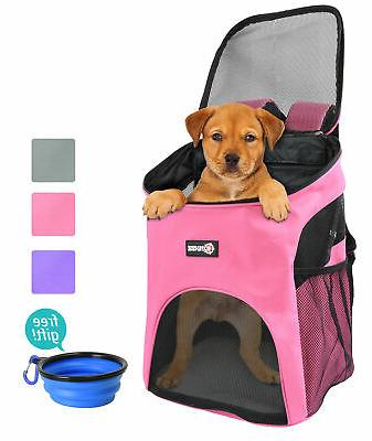 pet carrier backpack comfort mesh pup pack