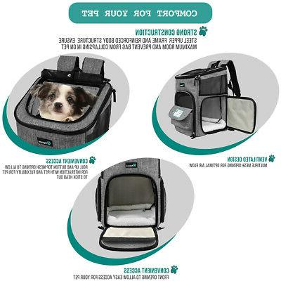 Pet Carrier for Small Cat Dog 4Way Travel Hiking