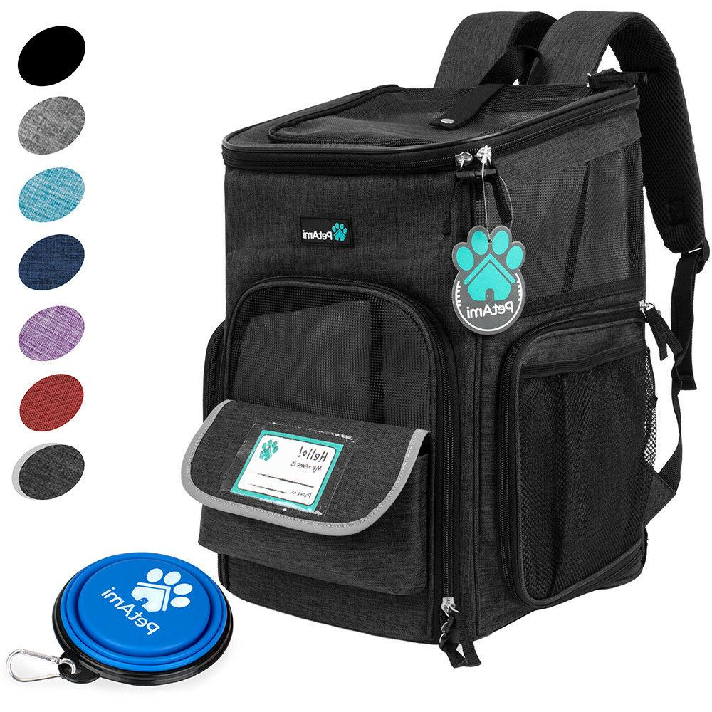 Pet Backpack for Small 4Way Breathable Hiking