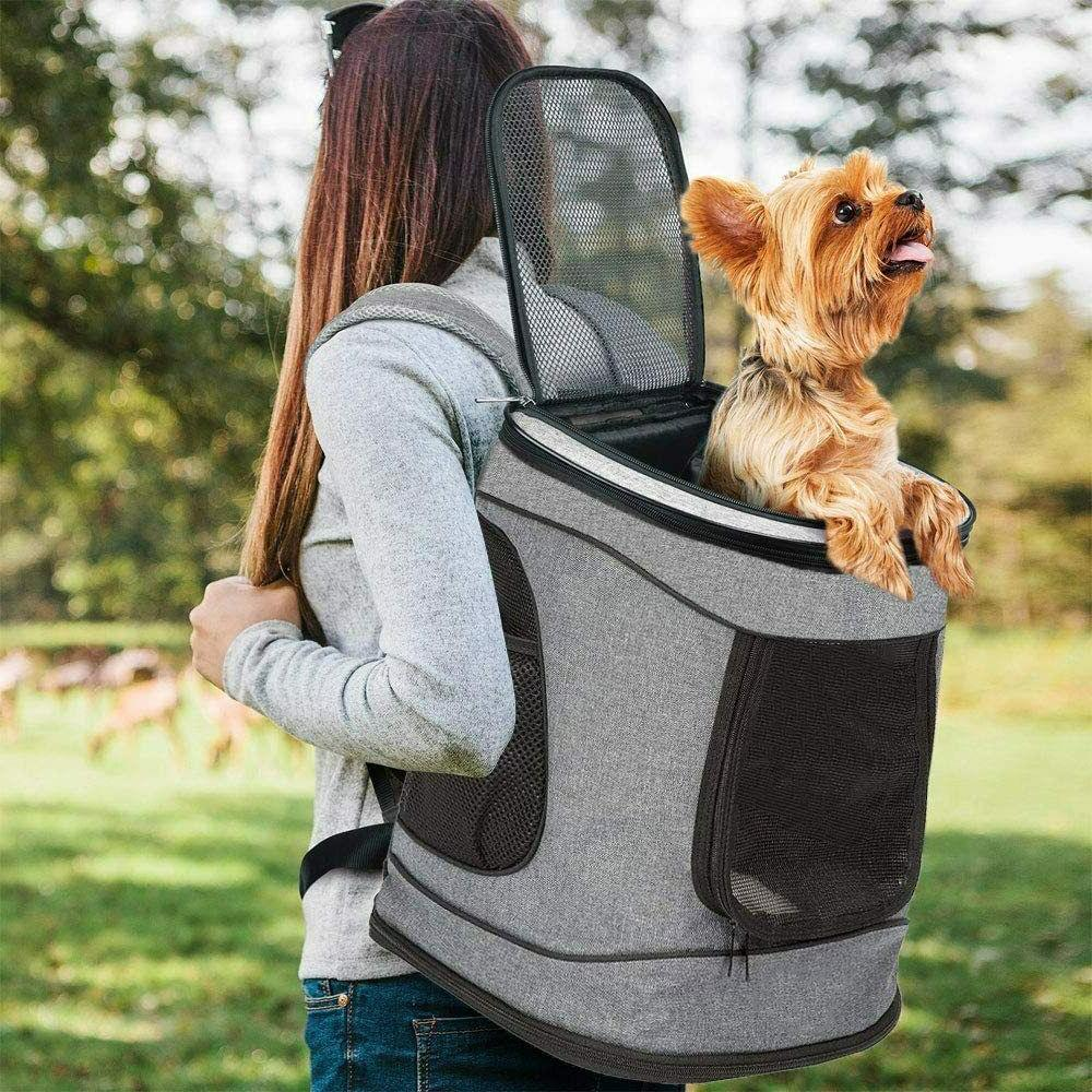 Dog Carrier Backpack Pet Travel Bag with Mesh Airline Approv