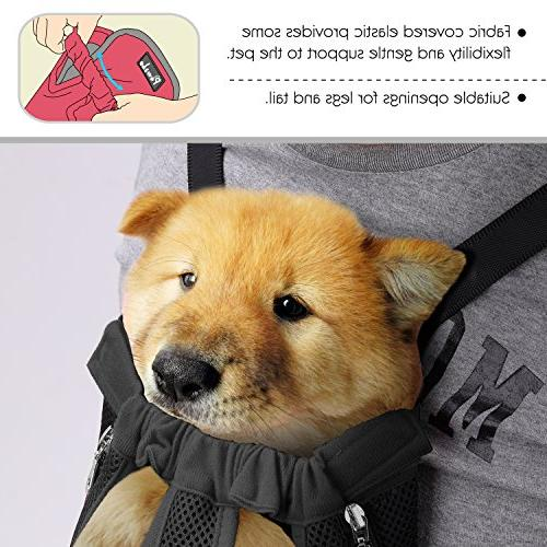 PAWABOO Adjustable Dog Backpack Bag, Legs Out, Easy-Fit for Hiking Extra Large Size,
