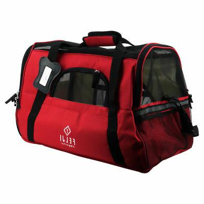 Pet Cat Airline Approved Bag Large Red