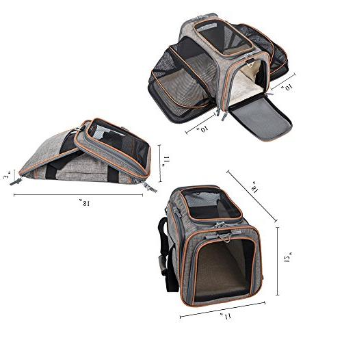MOVEPEAK Cats,Dogs,Puppy - Expandable Sided Pets Bags,Portable Pet Supply Carrier Bags