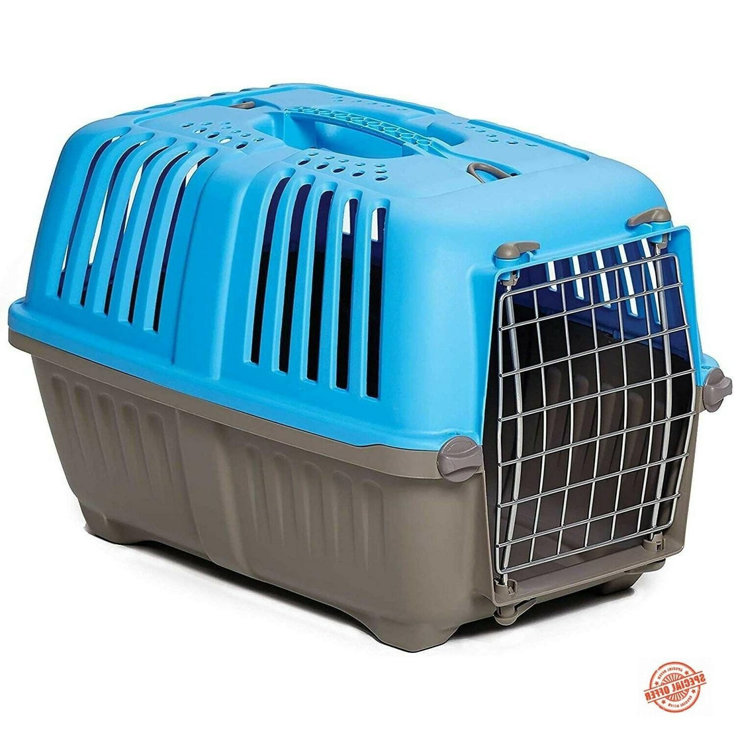 Pet Carrier Plastic Dog Travel Cat Cage Outdoor Portable