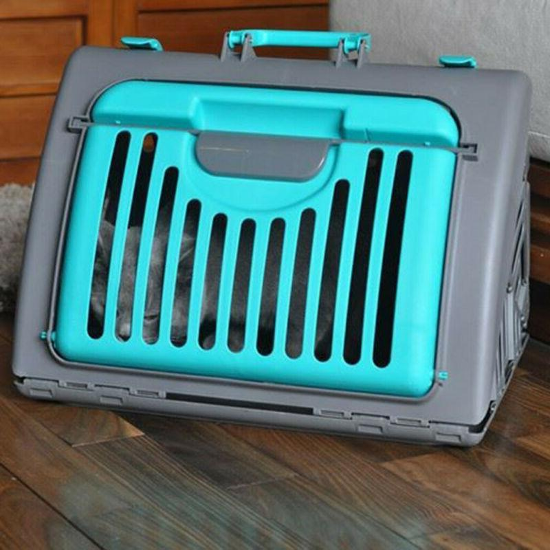 Pet Carrier Cat Dog Travel Folding Air Blue US