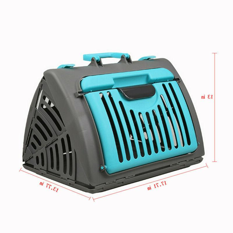 Pet Large Cat Travel Folding Blue