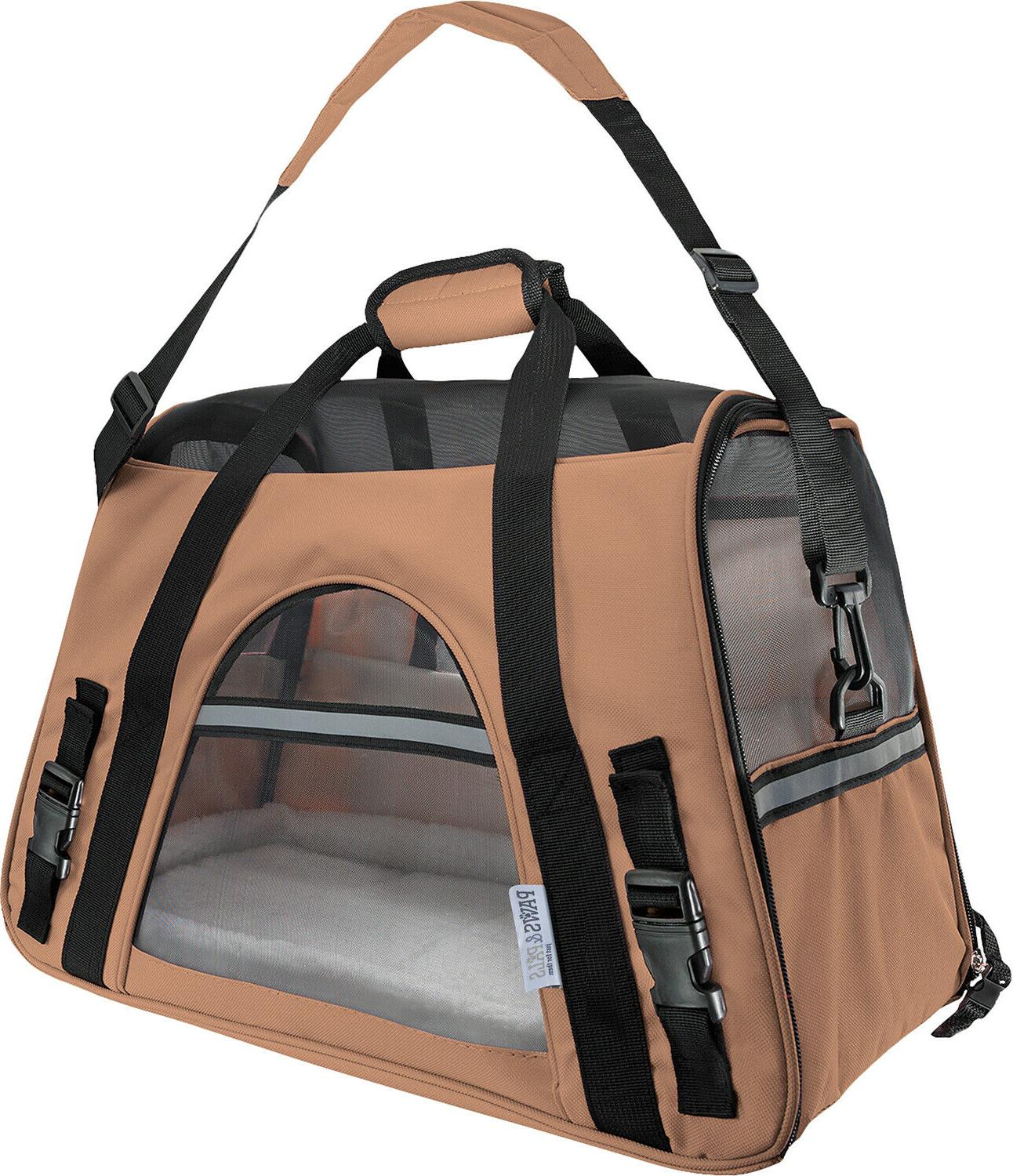 Pet Carrier Cat Tote Approved- Beige