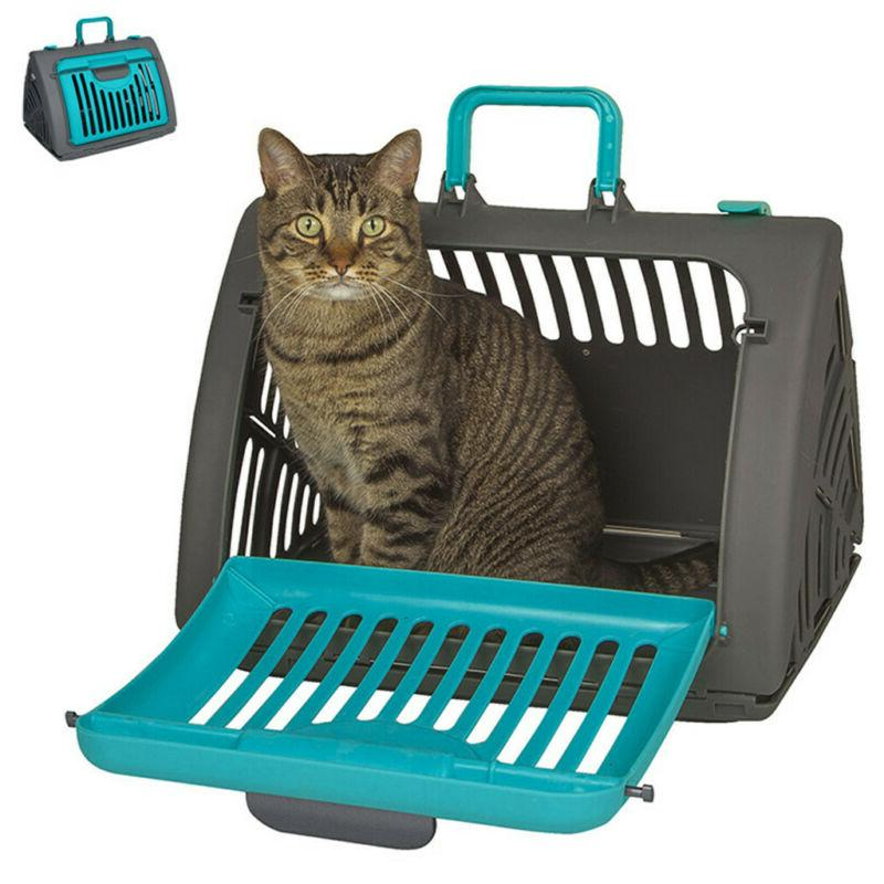 Pet Carrier Cat Dog Carrier Travel Folding Air Blue