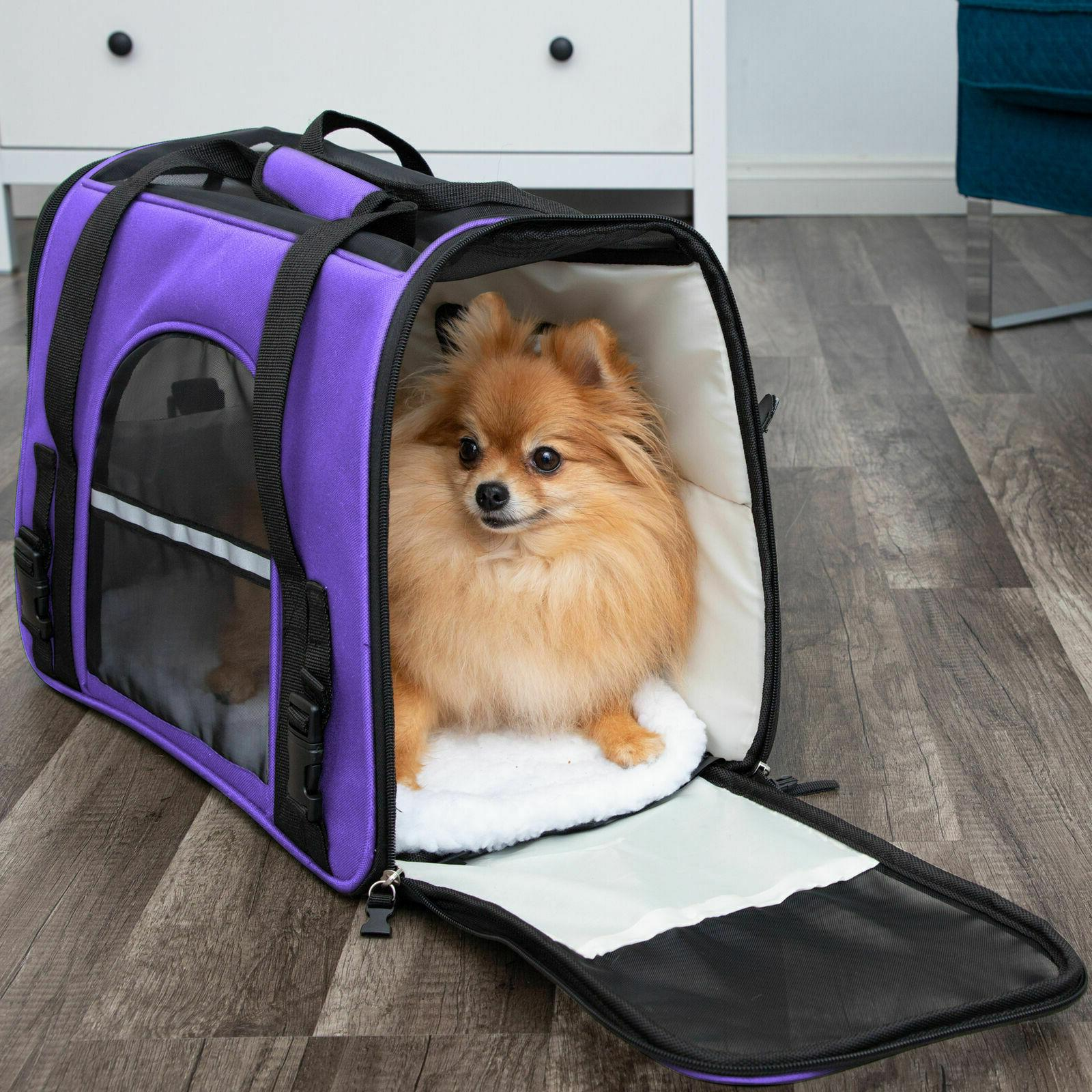 Pet Carrier Case Airline Sided Cat Dog