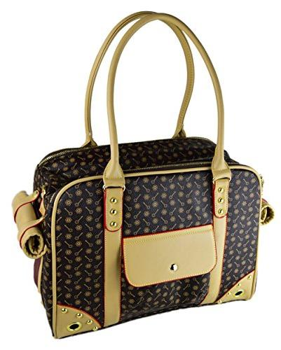BETOP Pet Around Town Pet Carrier Portable Dog Purse for Outdoor Walking Brown,