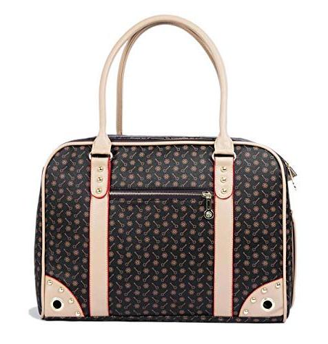BETOP Carrier Tote Around Town Pet Carrier Portable Handbag Dog Purse for Walking Hiking,
